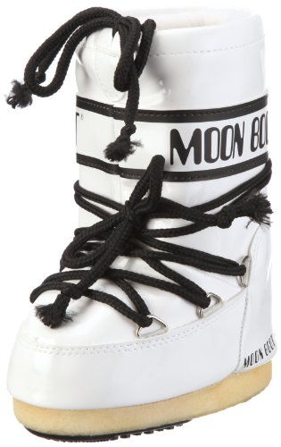 Moon Boot Vinil, Stivali, Unisex - adulto, Multicolore (Bianco/Nero), 45/47
