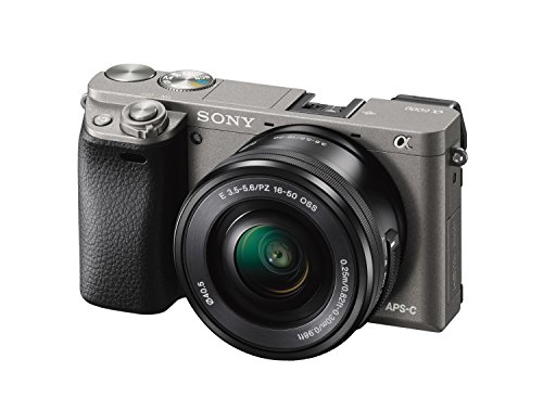 Sony Mirrorless Digital Camera Bundle with 3' LCD, Graphite (ILCE-6000L/H)