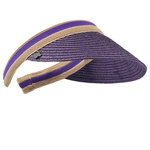 Damen Golf Visier Strand Stroh Sonnenhut Visoren Hüte (Violett)