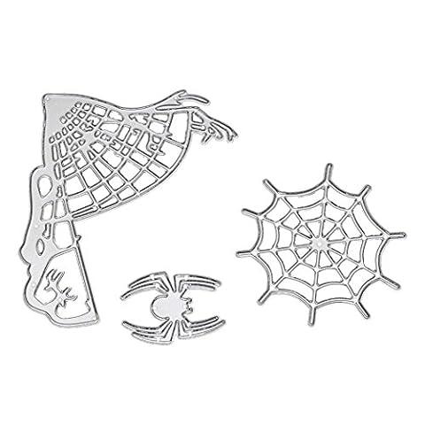 Yanhoo Happy Halloween en métal de coupe Dies Pochoirs Scrapbooking gaufrage DIY Crafts E