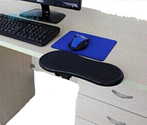 HENGSONG 1x PC Computer Laptop Arm Handgelenkauflage für Ausflüge Tabelle Pad Unterstützung Unterarm Armlehne (schwarz)