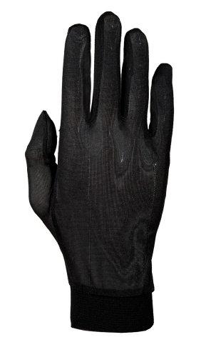 Roeckl Unterziehhandschuhe Seide schwarz (Größe: S)