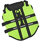 V-SOL Chaleco Salvavidas para Perro Seguridad para Natación Ajustable Verde Asia L Cuello 54-63cm