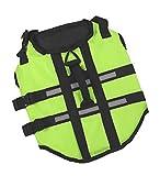 EOZY-Giubbotto di Salvataggio per Cane Regolabile Giacca Lifejackets Verde Seno 40-50cm