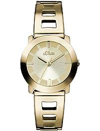 s.Oliver Damen-Armbanduhr XS Analog Quarz Edelstahl beschichtet SO-2916-MQ