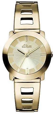 s.Oliver Damen-Armbanduhr XS Analog Quarz Edelstahl beschichtet
