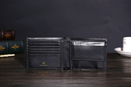 41HEfPTSvmL - Cronus & Rhea® | Luxury wallet with coin pocket made of exclusive leather (Plutus) | Wallet - Money Clip | Real leather | With elegant gift box | Men