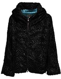Armani 8536Y Eco Pelliccia Oversize Donna Collezioni Black Jacket Woman