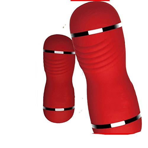 Blacksexy Vibrators Aircraft Cup Herrengeräte, Masturbation, Erwachsenenprodukte, Factory Direct Double Head Sex-Spielzeug, Großhandel Red rot (Red Head Figur)