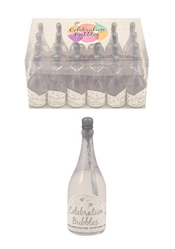 ag Feier Blasen Silber oben und Zauberstab klare Flasche [Spielzeug] (Blase Zauberstab)