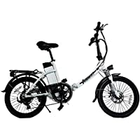 "DAS.BIKE Alu 20"" Klappbar Elektrofahrrad Faltbike E-Bike ebike Weiß"