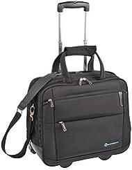 """Savebag - 18093/42 Pilot Case Roller Porte-Ordinateur 15""""6 - Couleur : Noir - Capacité : 26 Litres"""