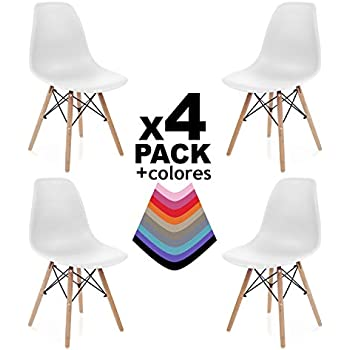 MeillAcc Set di 4 sedie scandinave, Offre Una Vasta Gamma di