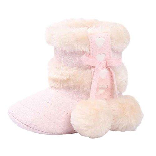 FNKDOR Babystiefel Soft Sole Schnee Stiefel Soft Kleinkind Schuhe(00-06 Monate,Pink)
