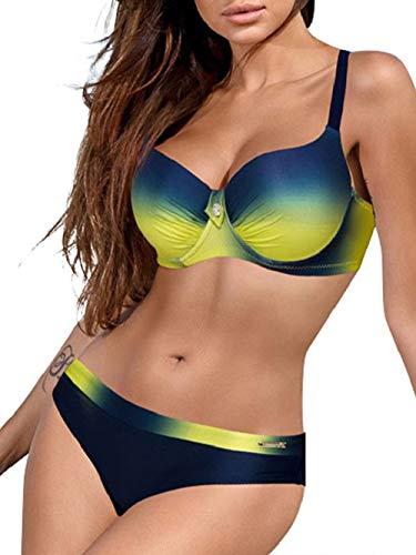 Yuson Girl Tops de Bikini Mujer Push-up Trajes de baño Dos Piezas Sexy Bikini Sets Mujer Ropa de baño
