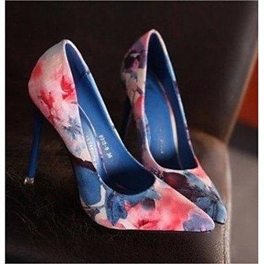 Shoeshaoge Femme Chaussures en cuir Printemps Fall Confort talons Stiletto Talon Bout Pointu pour décontracté Blushing Rose Bleu bleu