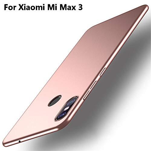 XunEda Funda Xiaomi Mi MAX 3 6.9 Ultra-Delgada Antideslizante Mate aAcabado PC Funda Protectora Dura Carcasa Case Cover para Xiaomi Mi MAX 3 Smartphone(Rosa Claro)