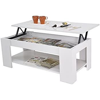 Kimberly Lift Up Top Coffee Table With Storage U0026 Shelf   Choice Of Colour ( White)