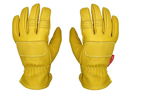 THROTTLESNAKE Guanti Moto Vintage in Pelle con Kevlar Giallo Senape PIT VIPER † Old School Mustard Yellow Motorcycle Leather & Kevlar Gloves (S)