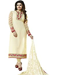 Vinay TM Women's Georgette Dress Material (3032_Free Size_Cream)