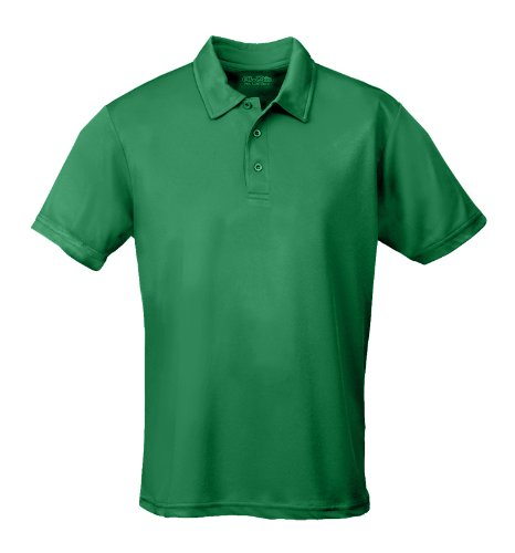 Just Cool - Performance - Performance Polo Shirt, atmungsaktiv, Shirt, atmungsaktiv, Large,Kelly