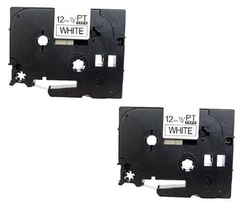 2 x Casete de Cinta para Brother P Touch TZe231 / TZ231 laminada estandár | negro sobre blanco | 12mm x 8m