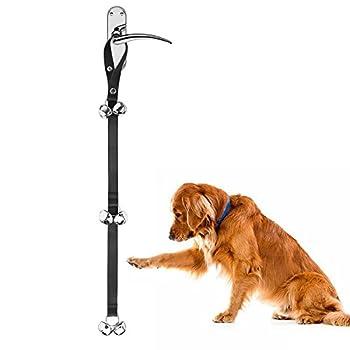 Chiens sonnettes de formation de chien, longueur réglable et sangle durable et cloche sonore forte, pour le chiot de Train d'Housetraining et Housebreaking, poignée adaptée de porte par Zellar