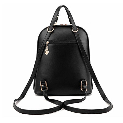Borsa di zaino da viaggio di zaino della borsa del sacchetto di spalla della scuola del cuoio sintetico della donna della ragazza di modo con l'orso adorabile ed il legame dell'arco bianca