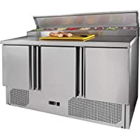 ZORRO - Zubereitungstisch ZTHPS300-3 Türen - Kühltisch mit GN Einlass - Salatkühlung - Gastro Belegstation