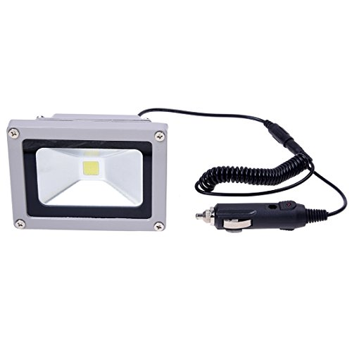 REFURBISHHOUSE Phare Voiture PROJECTEUR 10W 12V LED Blanc 7000KTaille 11,4cm x 8,6cm x 8,2cm
