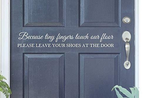 Schuhe ausziehen Da unsere Fu?b?den mit winzigen Fingern ber¨¹hrt werden, ziehen Sie bitte Ihre Schuhe an der T¨¹r aus. Kids Vinyl Decal Home Wall Decal