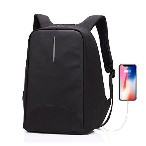 Sac à dos pour ordinateur portable/GENOLD Sac Antivol pour 15.6 pouces avec port de charge USB,Sac Imperméable pour loisir/affaires,homme/femme- Noir