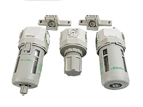 """Preisvergleich Produktbild CKD F,R,M,Bx2 4000 Filtersatz Luftfilter Wasserabscheider Öler Druckminderer 1/2"""" für Kompressor + Wandgriff"""