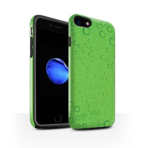 STUFF4 Glanz Harten Stoßfest Hülle / Case für Apple iPhone 8 / Blau Muster / Wassertropfen Kollektion Grün