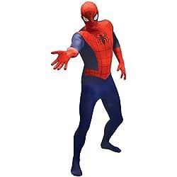 "Morphsuits 'Spider-Man' - Disfaz Oficial, color Azul/Rojo, talla XL/5'10""-6'3"" (177-189 cm)"
