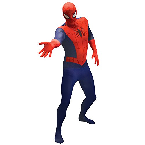 Morphsuits Offizieller Spiderman Basic, Verkleidung, Kostüm - Medium 4'7-5'2 (138cm - 158cm) (Spiderman Kostüm Bodysuit)