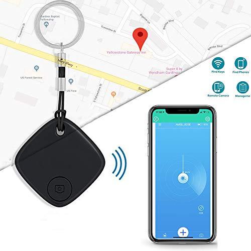 Trova chiavi, localizzazione a lungo raggio, dispositivo wireless anti-smarrimento, dispositivo bluetooth con allarme con controllo app per dispositivi ios e android (portachiavi non incluso)