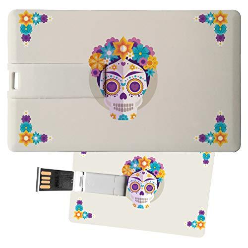 My Custom Style Pen Drive USB Kollektion #Halloween_A#4/8/16 Gb Credit Card_4 GB Halloween-Teschio_2