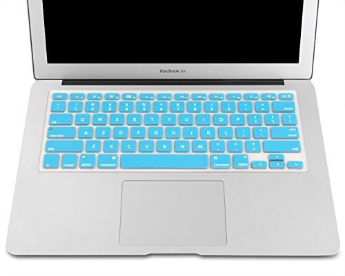 "Heartly Premium Soft Silicone Keyboard Skin Crystal Guard Protector Cover For MacBook 13"" / 15"" / 17"" inch Light Blue"