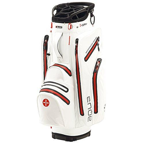 BIG MAX I-Dry Aqua Tour Golf Cartbag - 100% Wasserdichte Golftasche 2016 (Weiß-Rot)