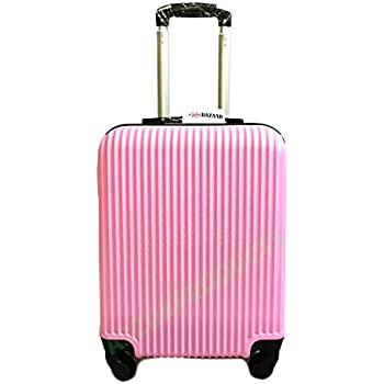 ROSE VINTAGE NAVY BLUE & PINK LARGE 28 SUITCASE LUGGAGE CASE 4 ...