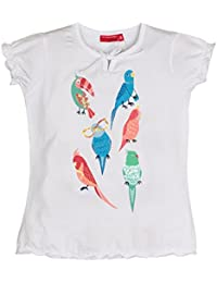 Salt & Pepper Smile Print Papageien, T-Shirt Fille