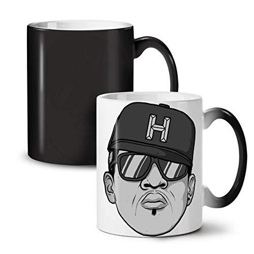 Wellcoda Rapper Gangster Musik Farbwechselbecher, Städtisch Tasse - Großer, Easy-Grip-Griff, Wärmeaktiviert, Ideal für Kaffee- und Teetrinker