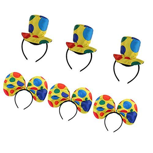 Zirkus Party Kostüm - 6 Stück Bunte Polka Dots Clown