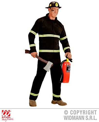 Widmann wdm03941–Kostüm für Erwachsene Feuerwehrmann, schwarz, S