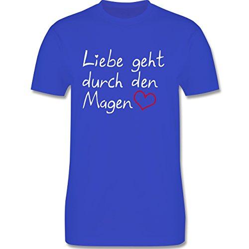 Küche - Liebe geht durch den Magen - Herren Premium T-Shirt Royalblau