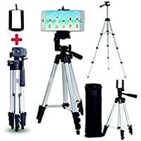 Kossto Adjustable Aluminium Alloy Tripod Stand Holder for Mobile Phones & Camera, 360 mm -1050 mm, 1/4 inch Screw…