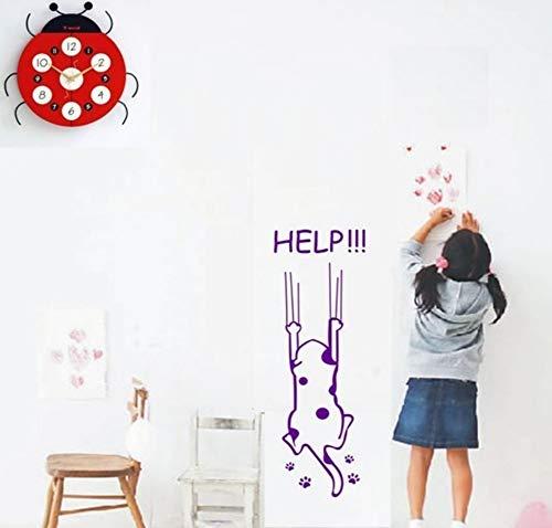 XCGZ Wandsticker Kühlschrank Kühlschrank Wandtattoo Cartoon Kinder Küchenschrank Möbel Glas Dekoration Helfen Katze Zitate 60 * 16 cm