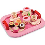 #6: Toyshine Wooden Princess Afternoon Tea Party Set Pretend Play Toy for Girls (18 Pcs)