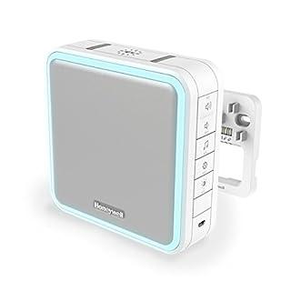 Honeywell Home 8-Klang Gong mit Verdrahtungsmodul und Funk-Reichweitenverstärker, Lichtring und LED-Blitzlicht DW915S, weiß